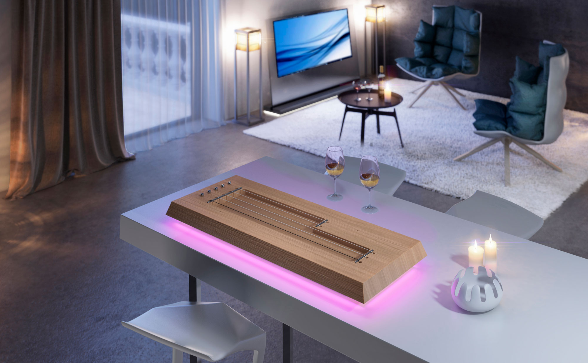 Croma Lamp maple edition ambiental violet version